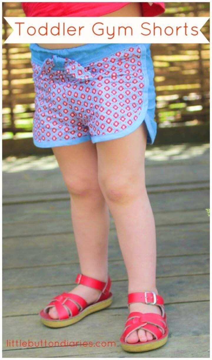 Cute DIY Toddler Gym Shorts