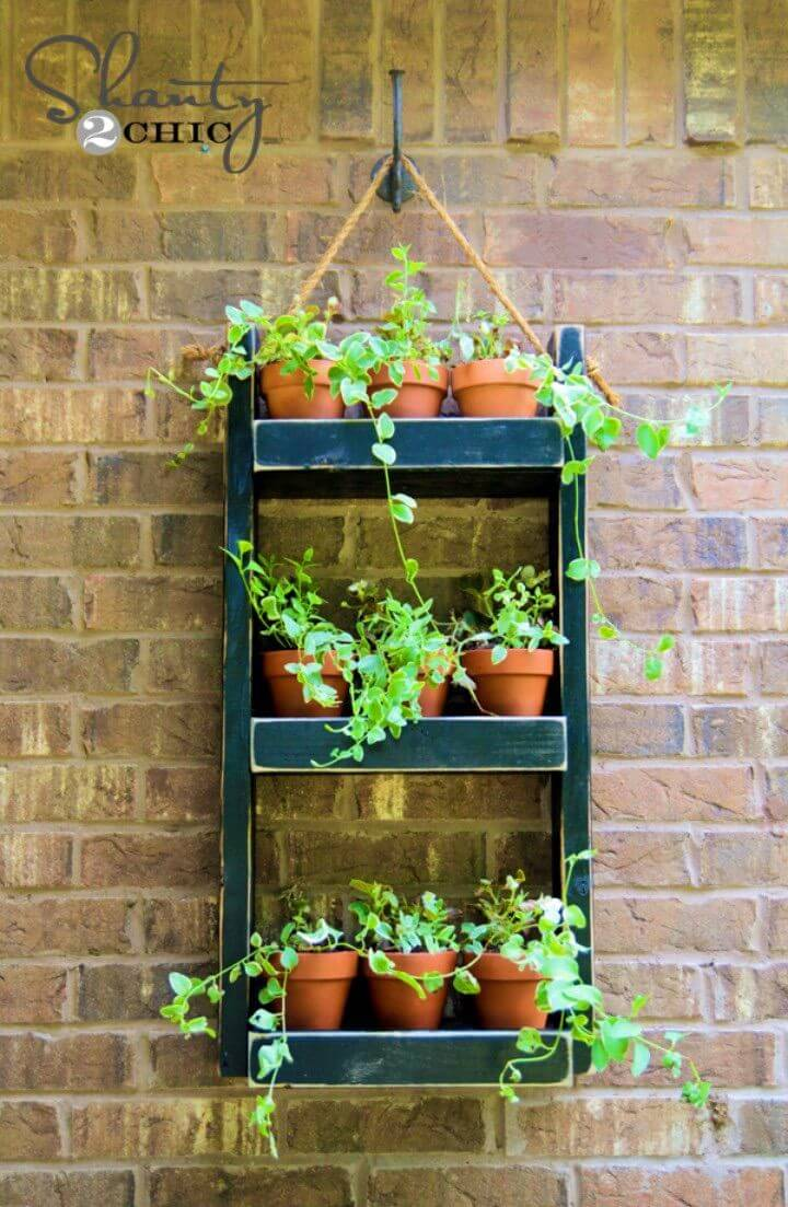 DIY Wood Herb Planter For The Wall