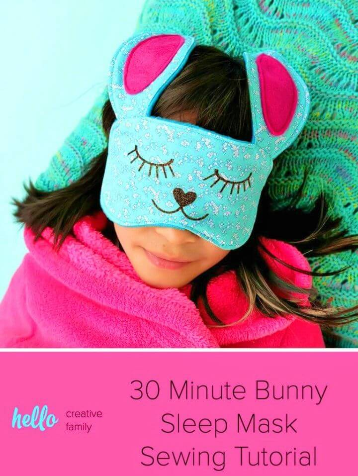 DIY Minute Bunny Sleep Mask