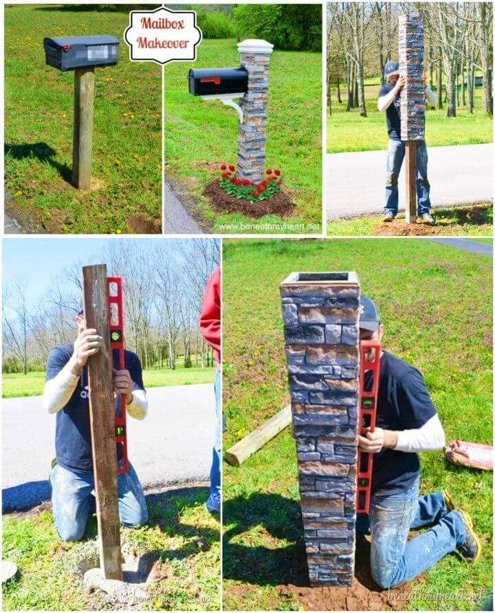 DIY Backyard Mailbox Makeover