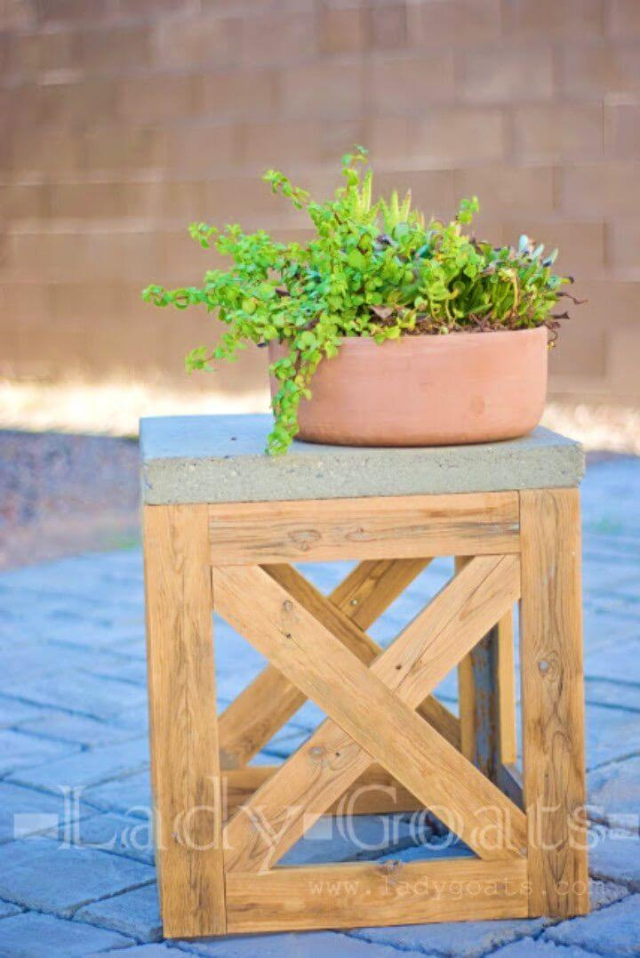 DIY Backyard X Stool or Table