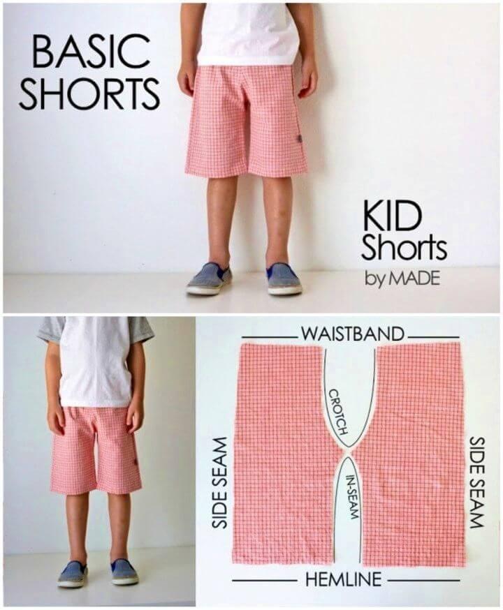 DIY Basic Kid Shorts