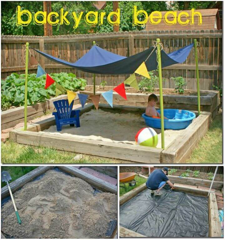 DIY Beach Backyard Play Areas for Kids