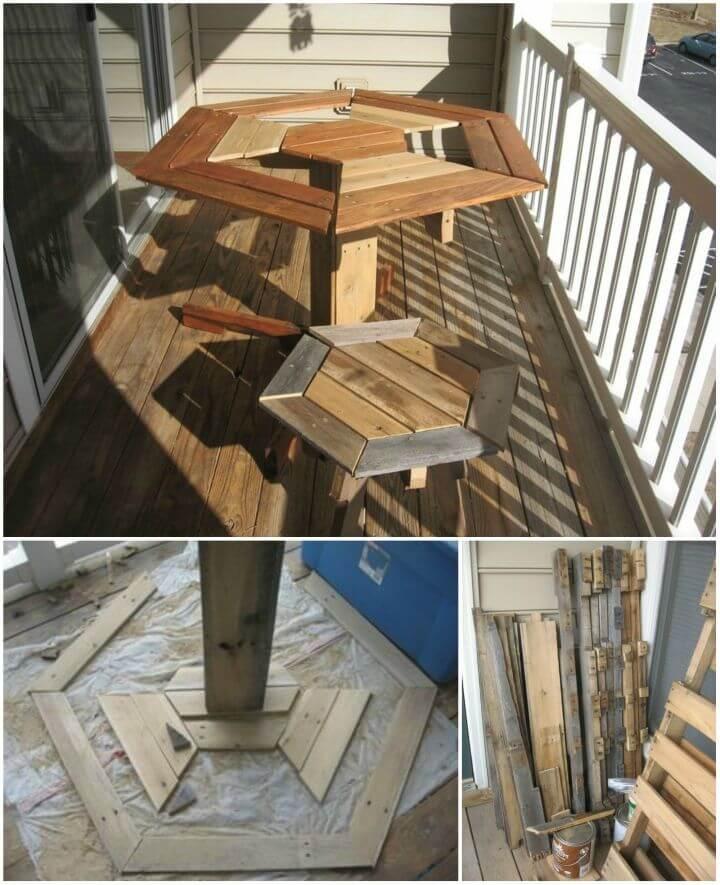 DIY Broad Pallet Patio Furniture