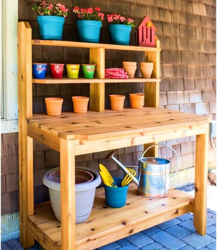 DIY Built To Last Potting Bench
