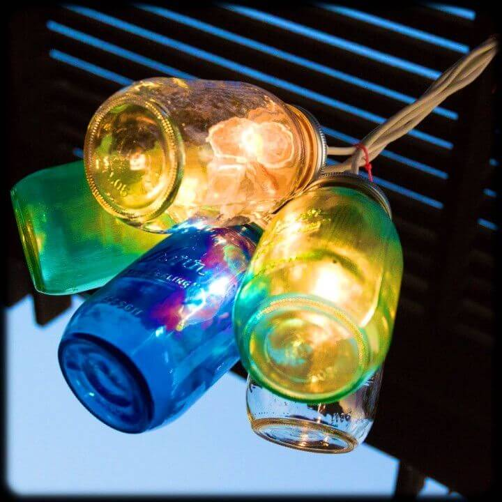 DIY Canning Jar Lights Backyard Light Idea