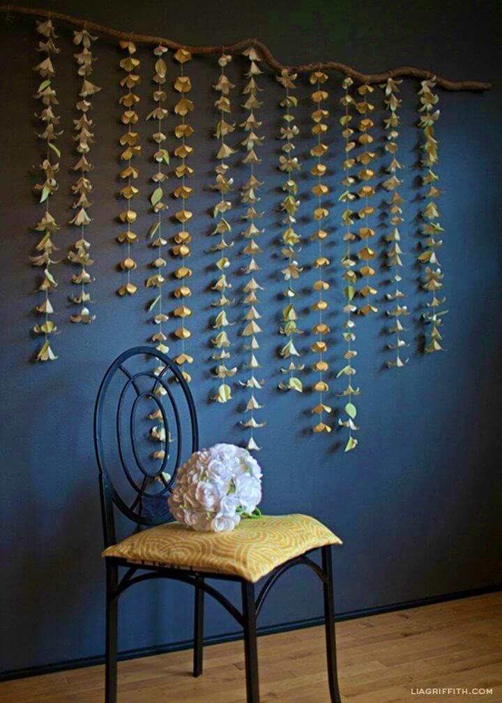 DIY Cascading Paper Flower Garland Tutorial