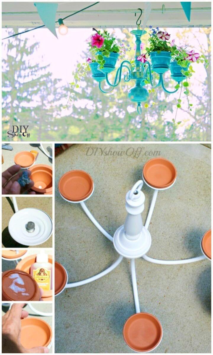 DIY Chandelier Planter Terracotta Crafts