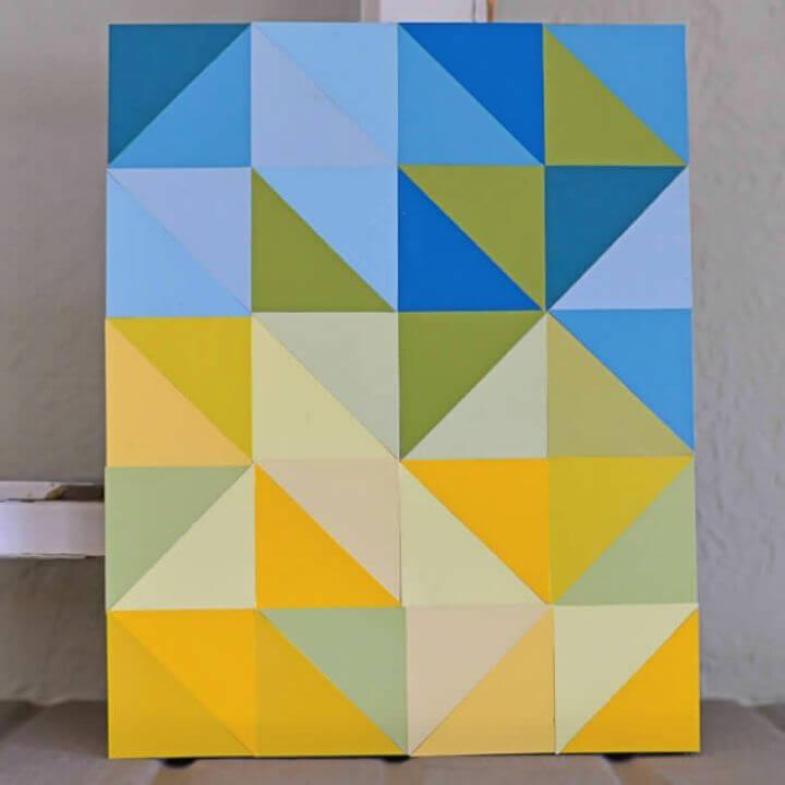 DIY Color Block Paint Chip Artwork, DIY, easy DIY, quick DIY, cheap DIY projects, DIY color blocks, color blocks, DIY color block art, color block technique, DIY painting, gift ideas, DIY home decor, DIY artwork, art, artist, wall art.