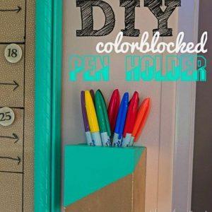 DIY Color Block Pen Holder