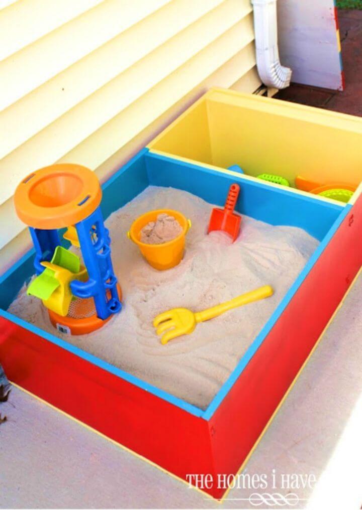 DIY Color-block Sandbox, DIY, easy DIY, cheap DIY projects, quick DIY, DIY color block, DIY color block sandbox, DIY sandbox, color block technique, toys, DIY kid toys, outdoor projects.