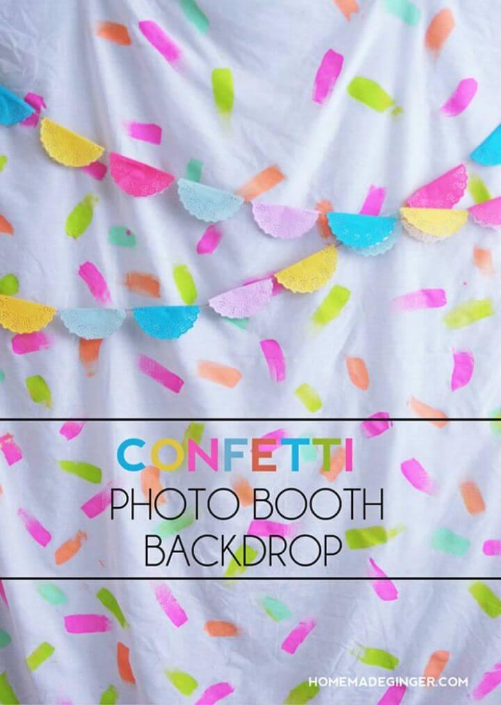 DIY Confetti Photo Booth Backdrop