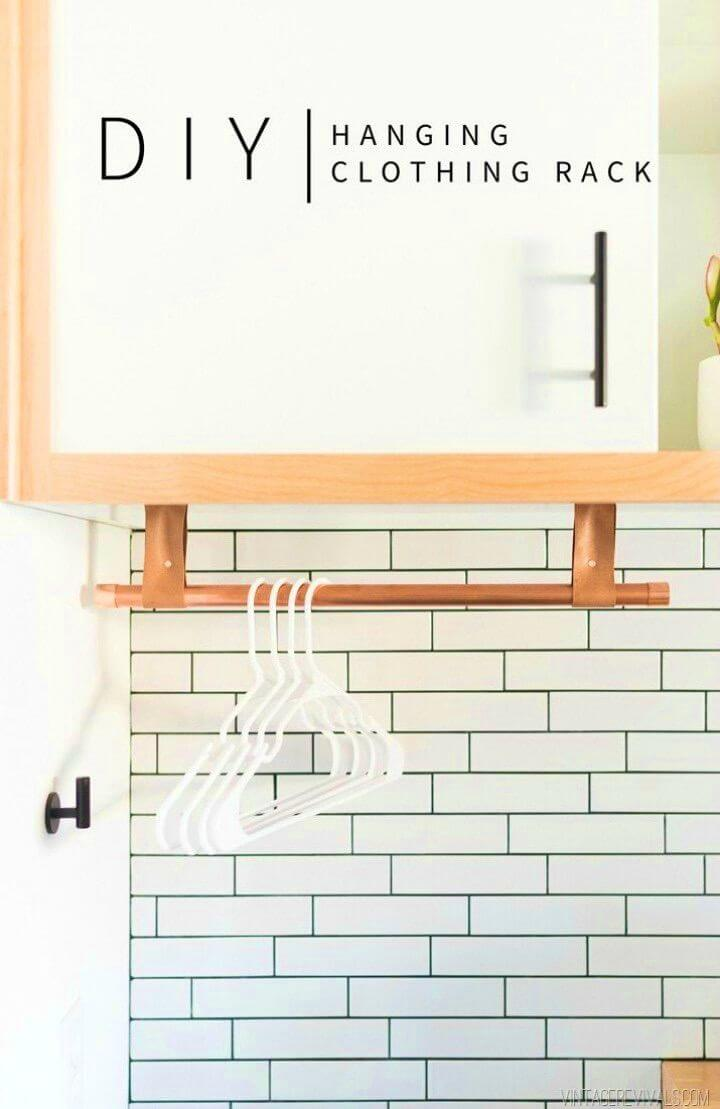 DIY Copper and Leather Hanging Bar