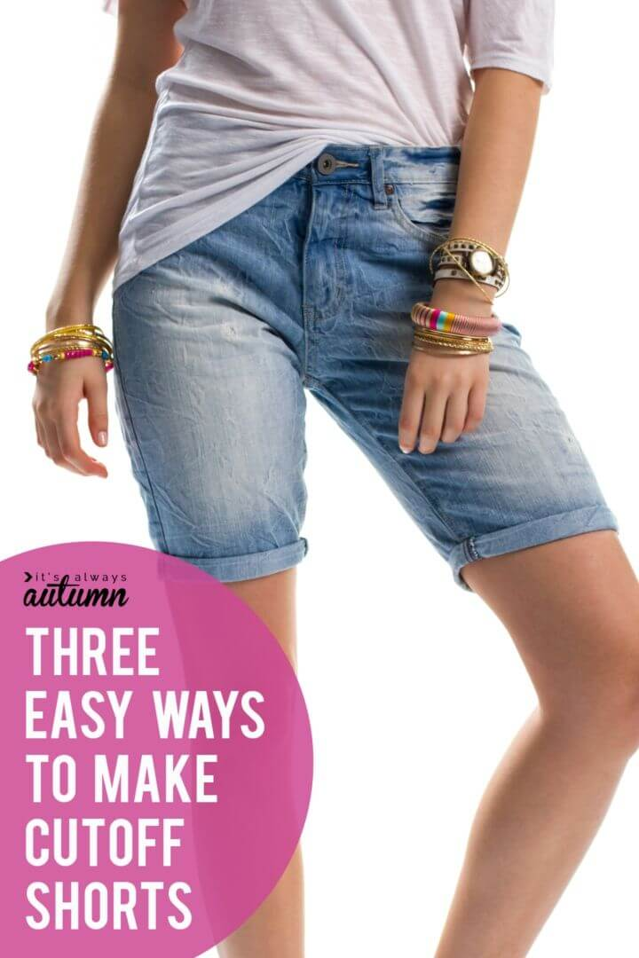 DIY Cut Off Jeans In Minutes