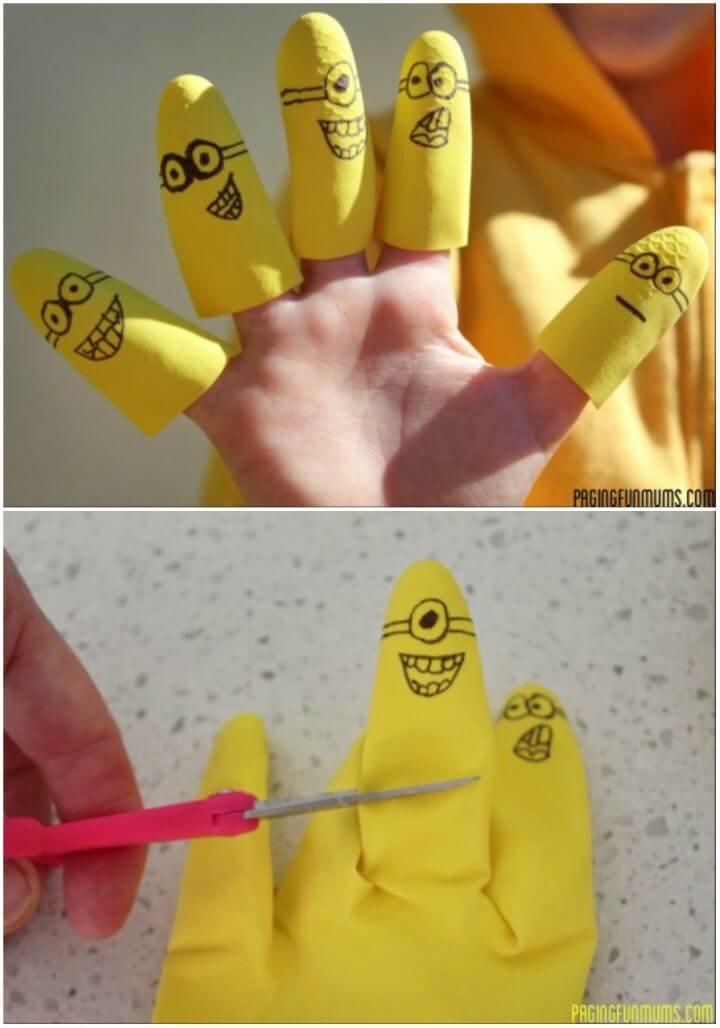 DIY Despicable Me 'Minion' Finger Puppets