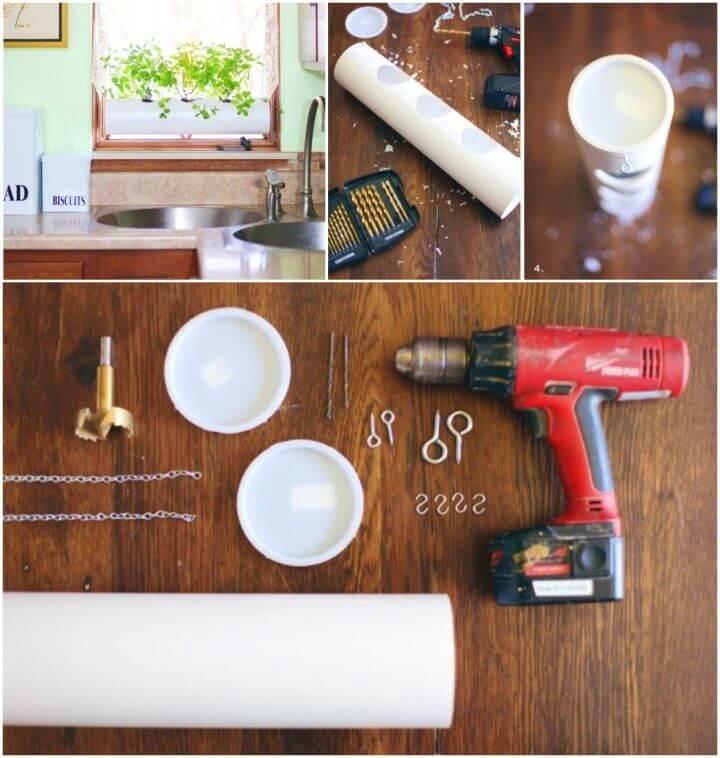 DIY Floating PVC Window Planter