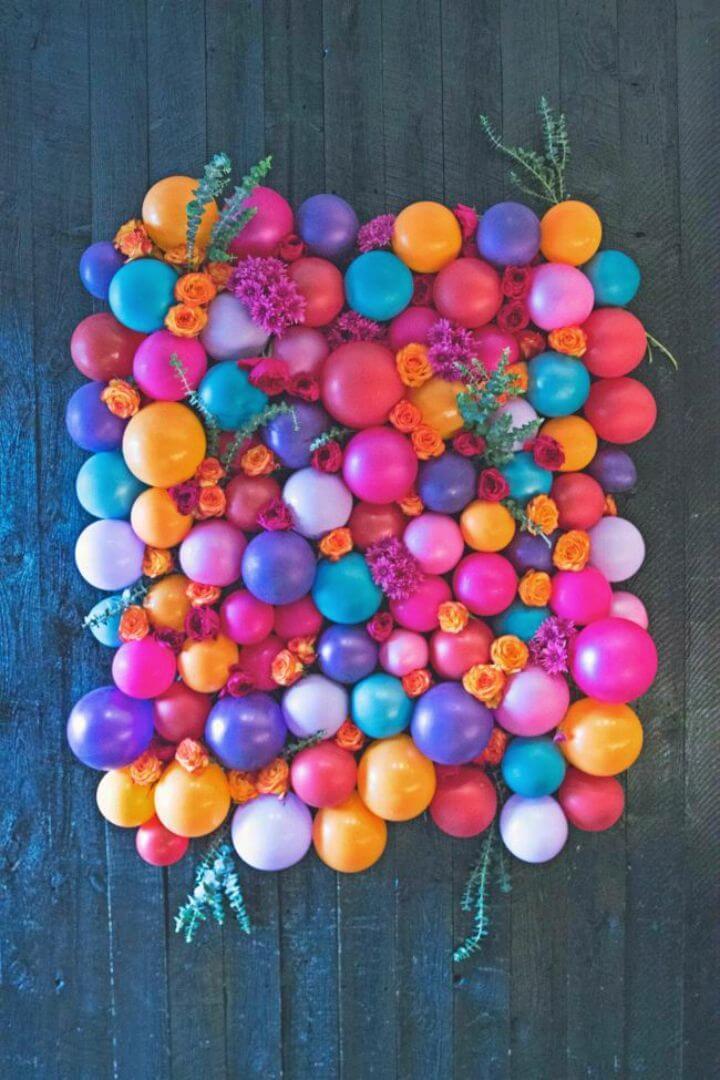DIY Floral Balloon Backdrop