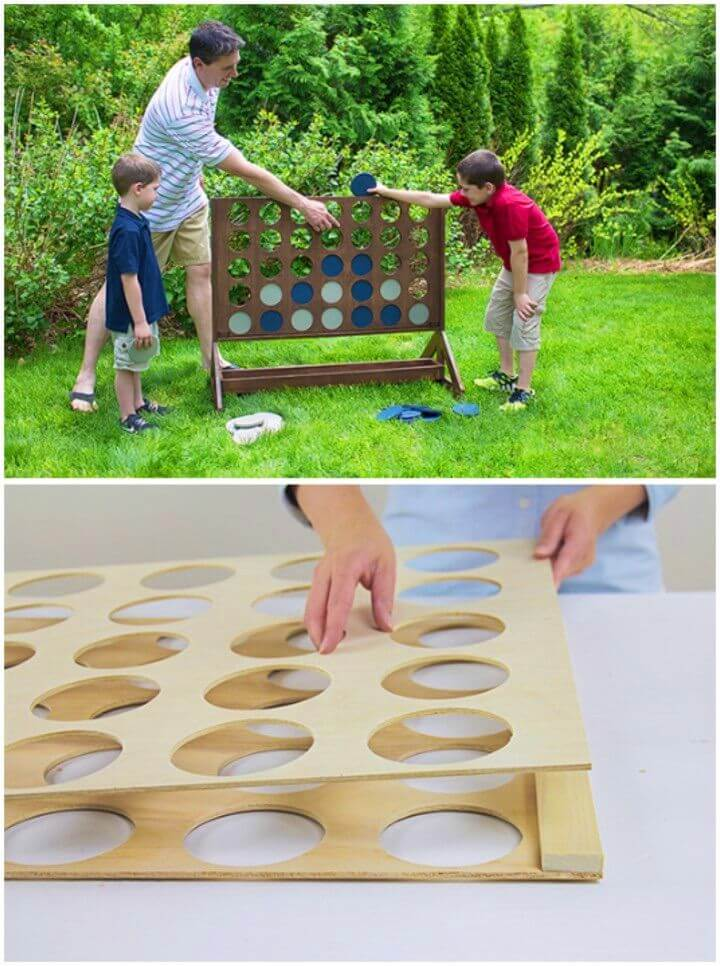 DIY Four in a row Backyard Game