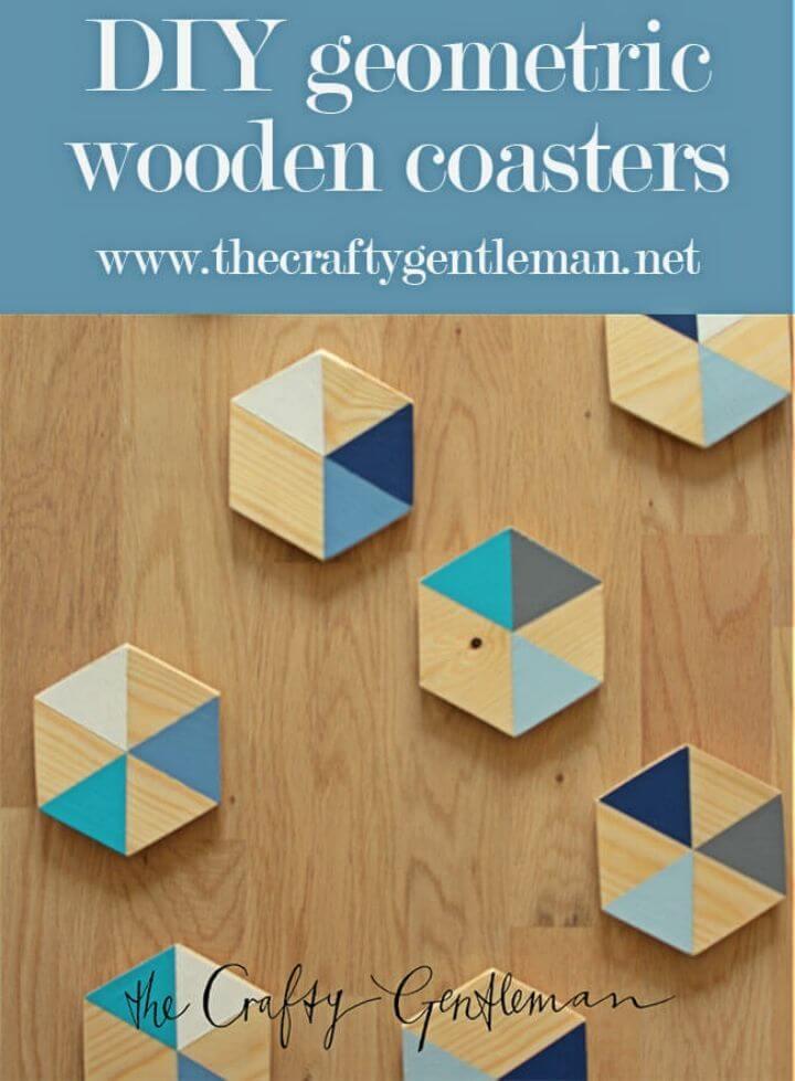 DIY Geometric Colour Block Wooden Coasters, DIY, easy DIY, quick DIY, cheap DIY projects, DIY color blocks, color blocks, DIY color block coasters, color block technique, DIY home decor, gift ideas, DIY wooden coasters, adorable coasters.