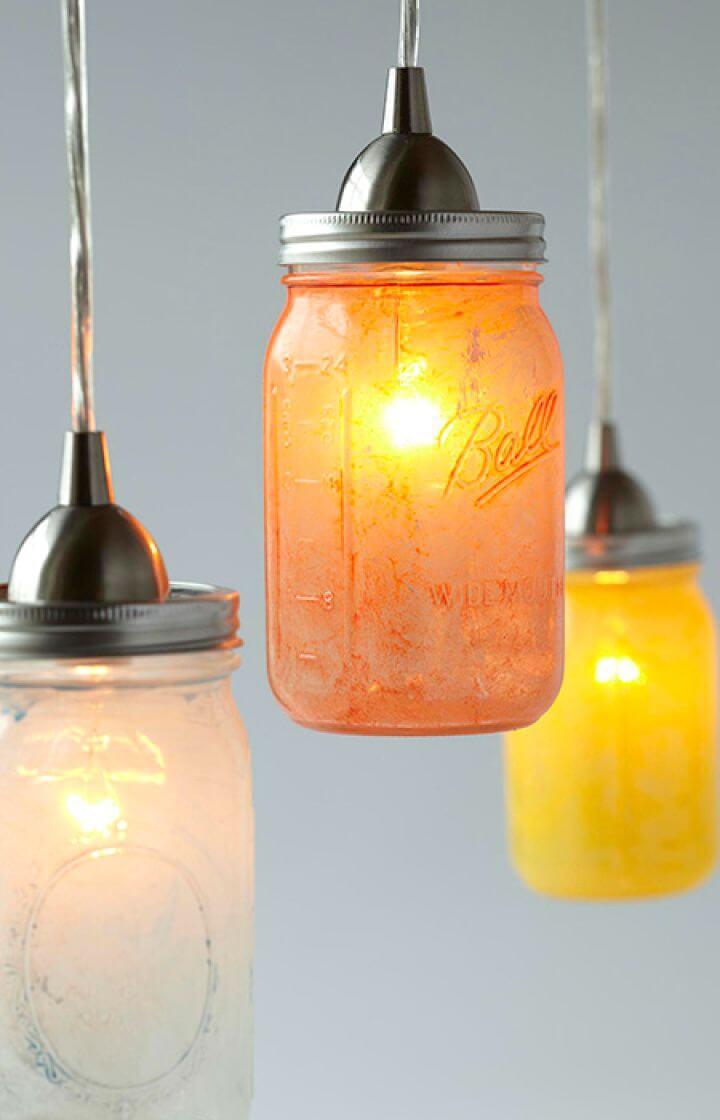 DIY Glass Mason Jar Pendant Lights