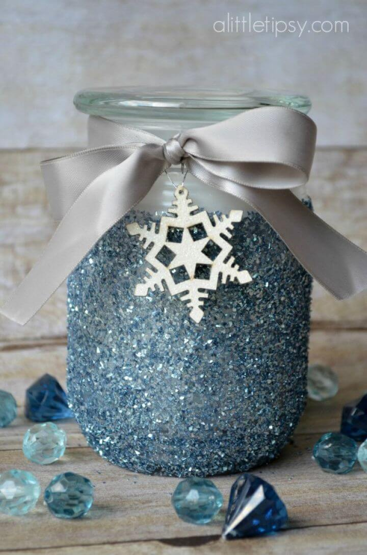 DIY Glitter Candle Gift Tutorial