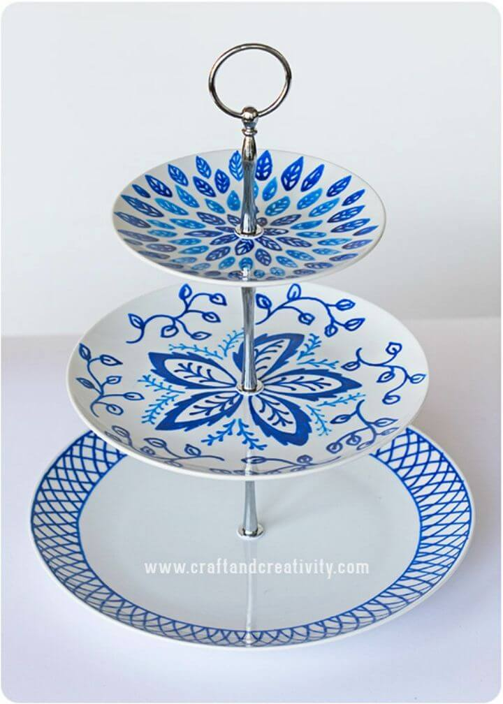 DIY Hand Painted Cake Stand