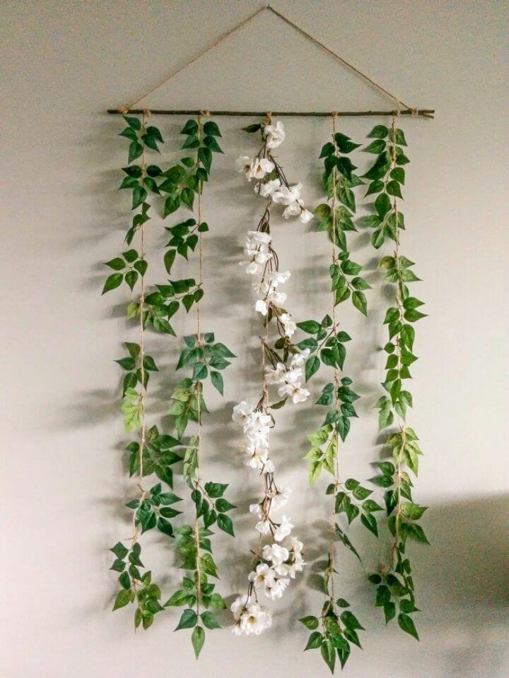 DIY Hanging Floral Garland