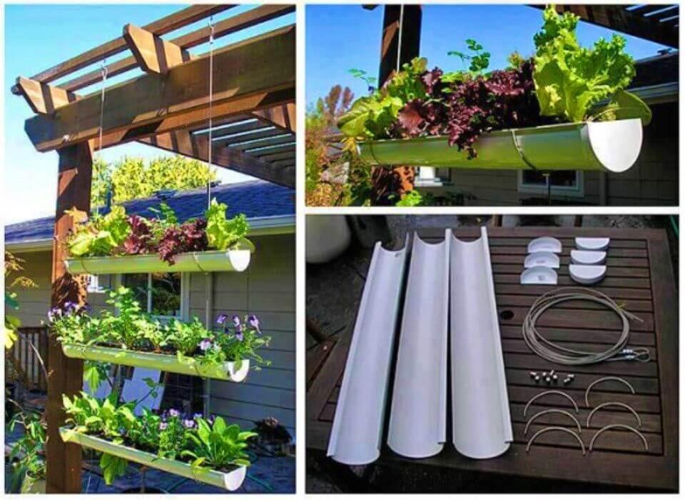 DIY Hanging Gutter Garden Tutorial