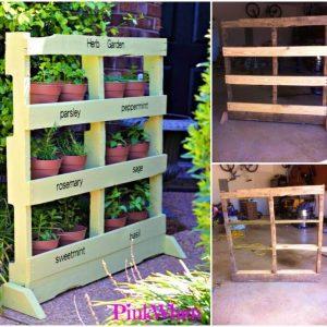 DIY Herb Garden from a Pallet