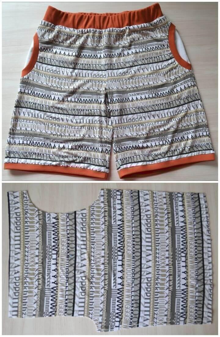 DIY Jersey Womens Shorts
