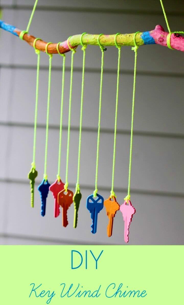 DIY Key Wind Chime Craft for Kids