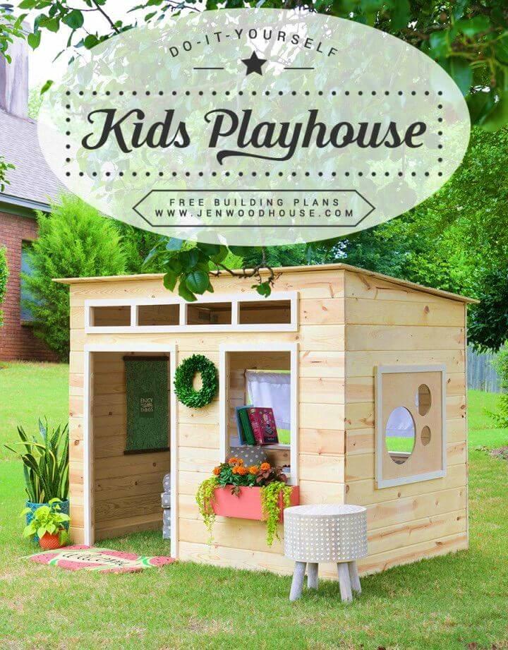 DIY Kids Indoor Playhouse