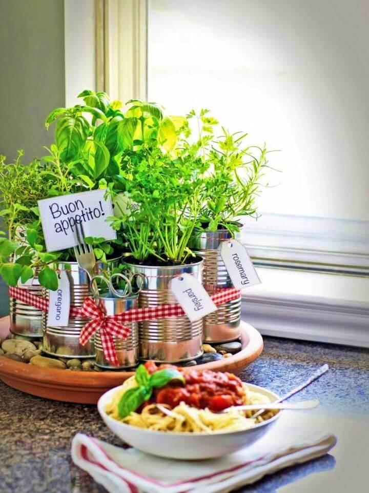 DIY Kitchen Countertop Herb Garden