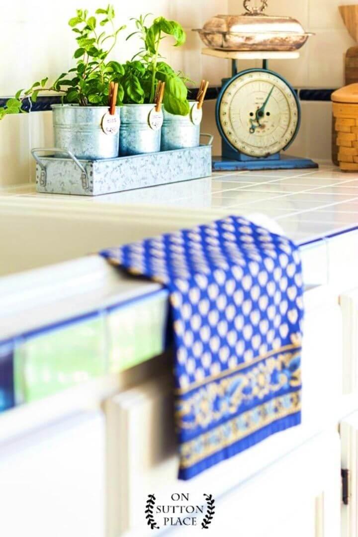 DIY Kitchen Herb Garden Farmhouse Style