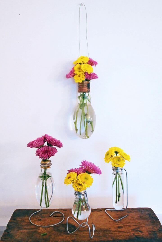 DIY Light Bulb Vase for Wedding Gift