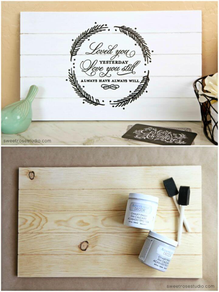 DIY Love Quote Pallet Wedding Gift