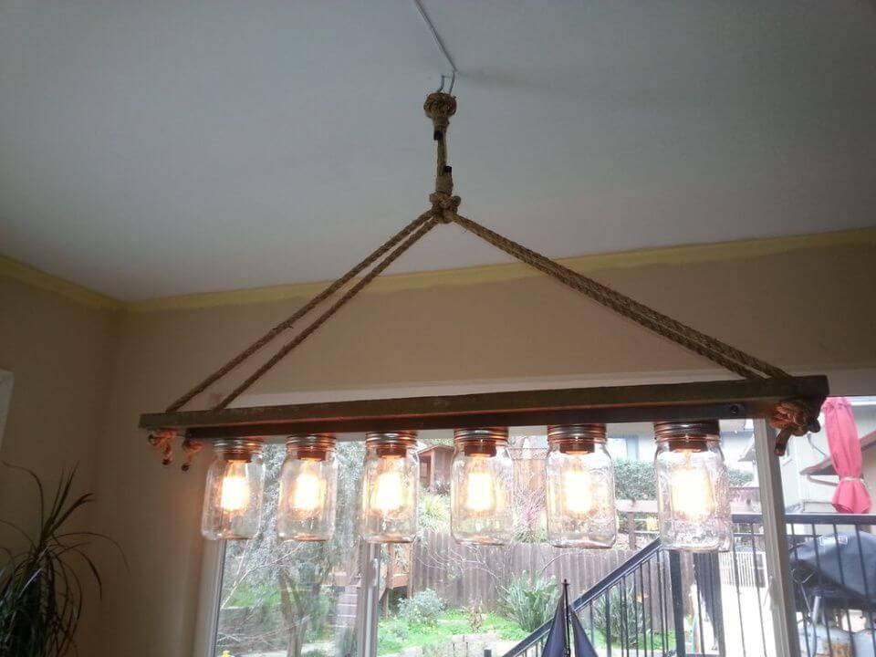 DIY Mason Jar Light Edison Hanging Lamp