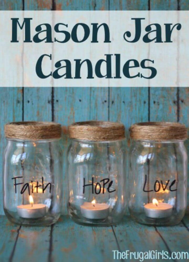 DIY Mason Jar Candles Tutorial