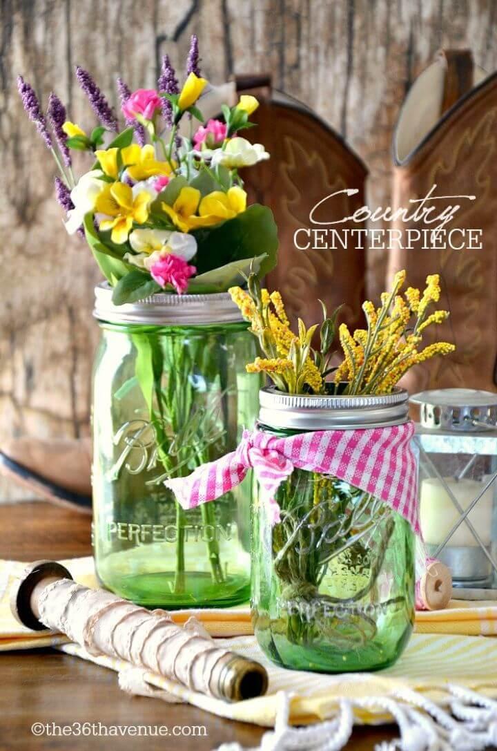 DIY Mason Jar Country Centerpiece