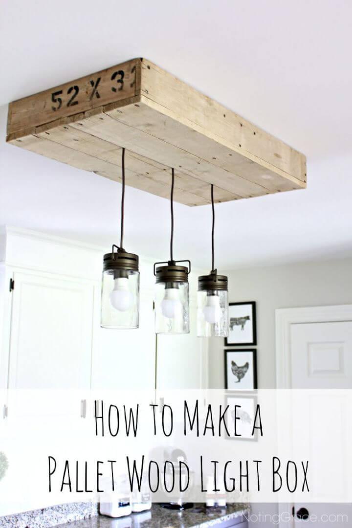 DIY Mason Jar Pallet Light Box