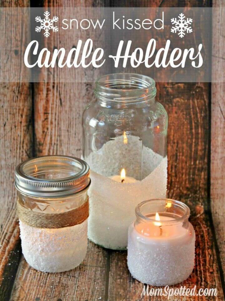 DIY Mason Jar Snow Kissed Candle