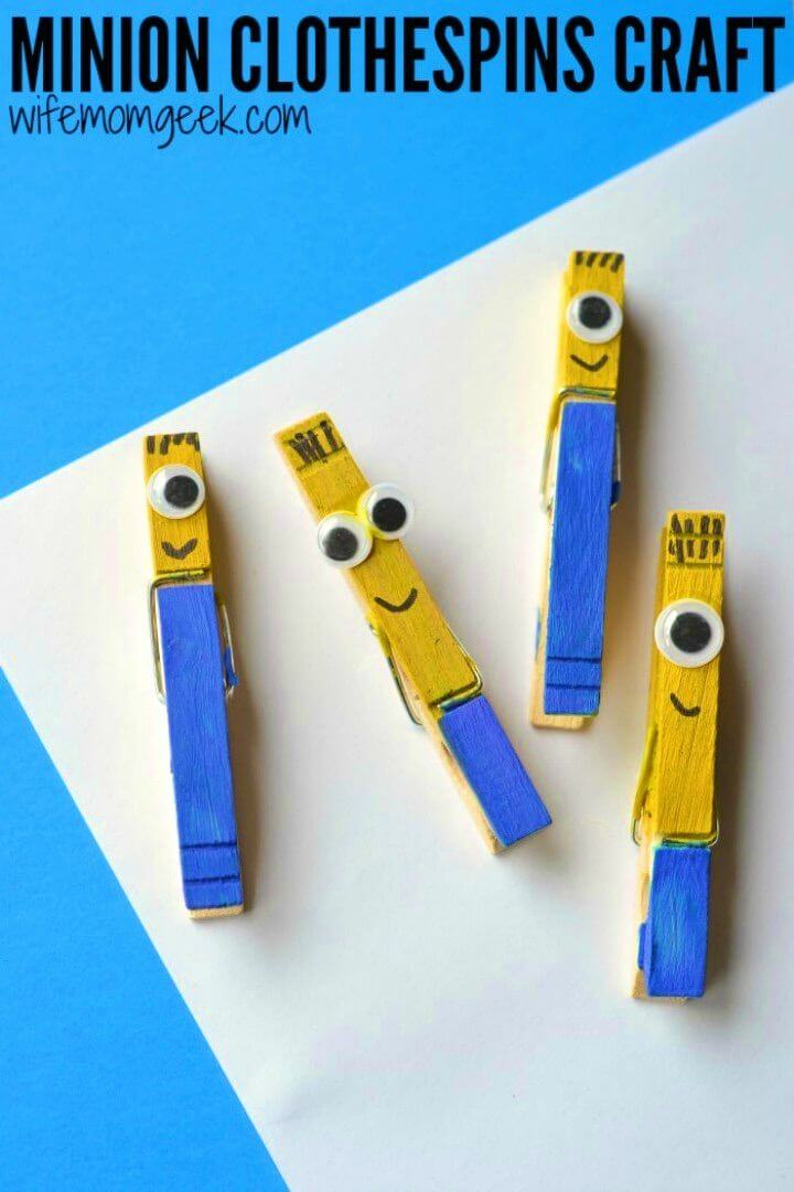 DIY Minion Clothespin Craft for Kids