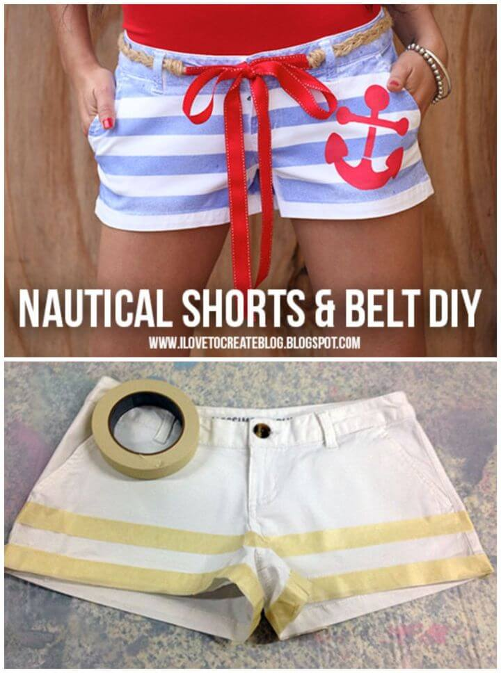 DIY Nautical Sailor Shorts Belt