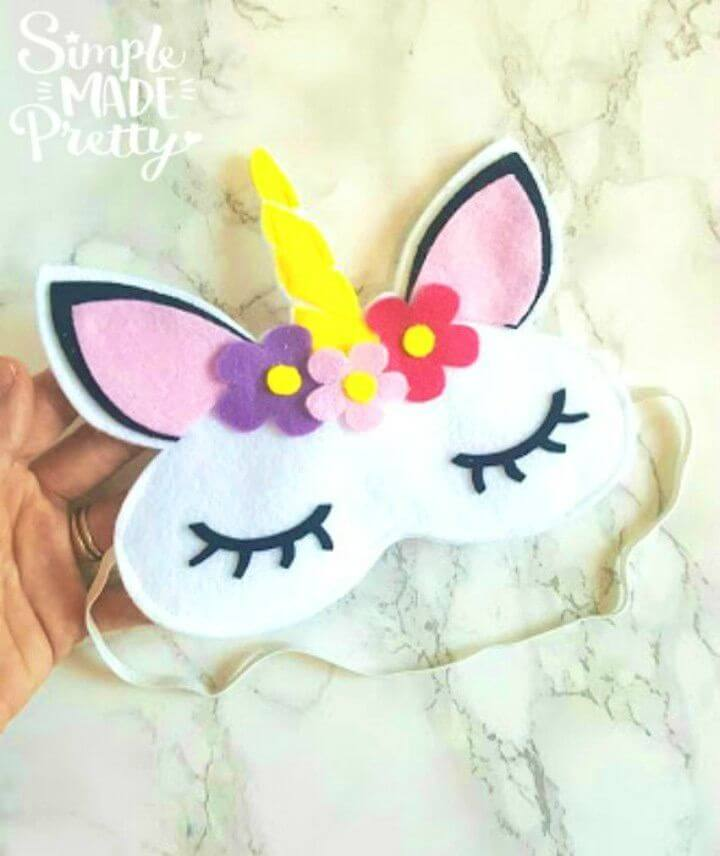 DIY No Sew Felt Unicorn Sleep Mask