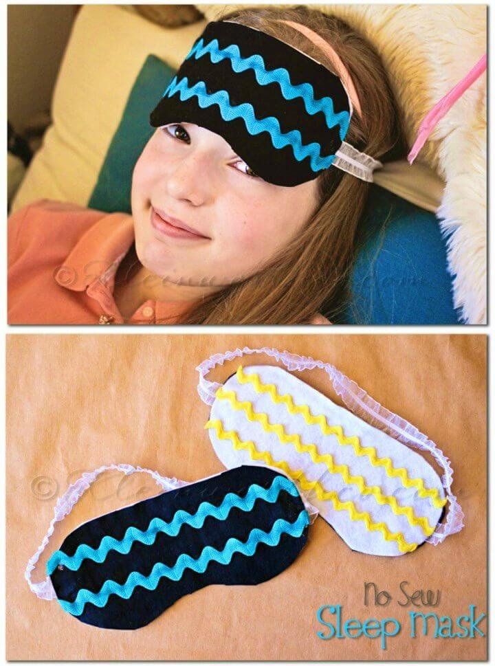 DIY No Sew Sleep Mask