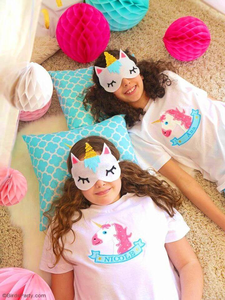 DIY No sew Unicorn Sleeping Masks