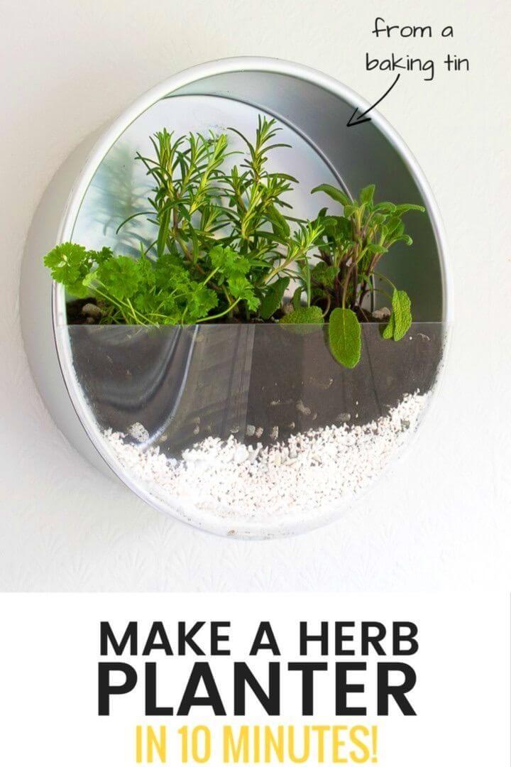 DIY Old Baking Tins Herb Planter