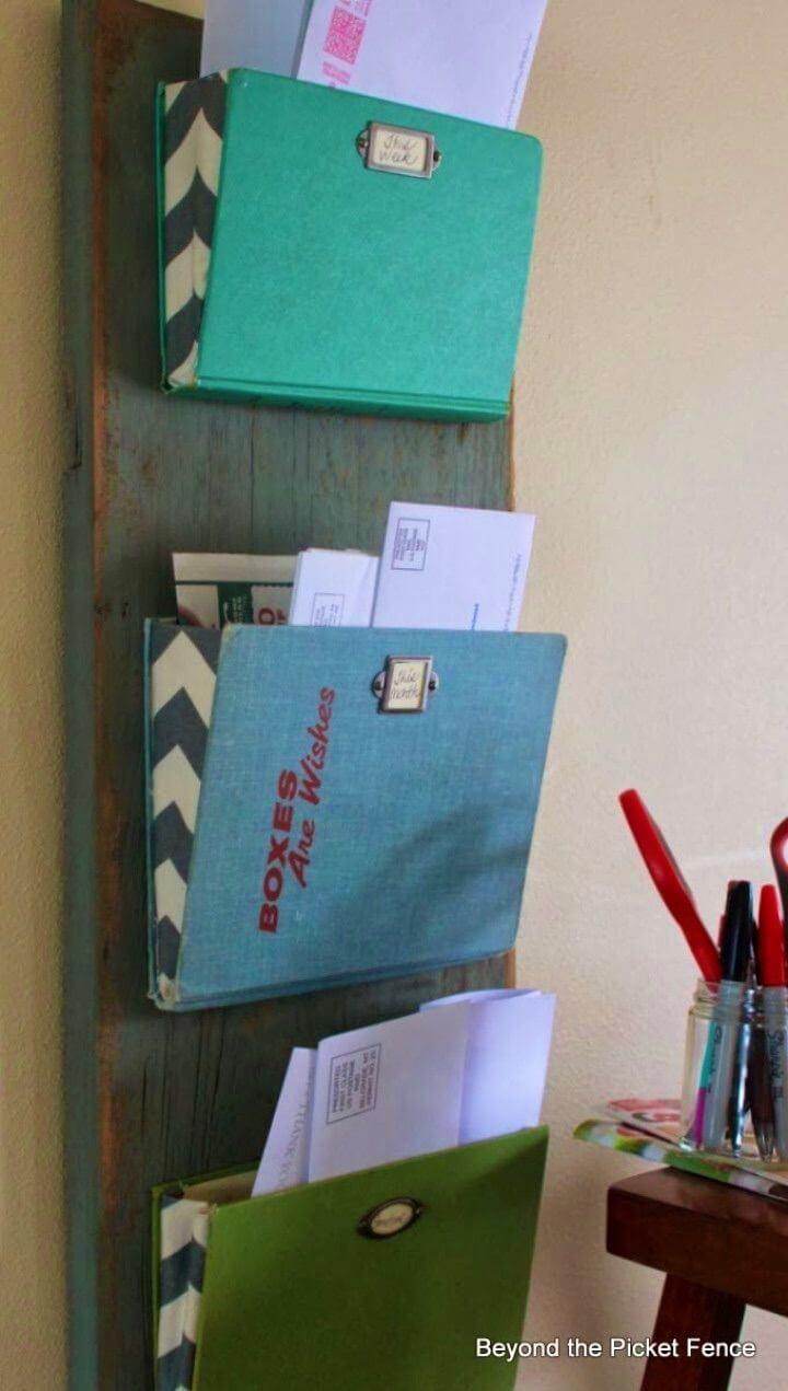 DIY Old Book Mail Organizer