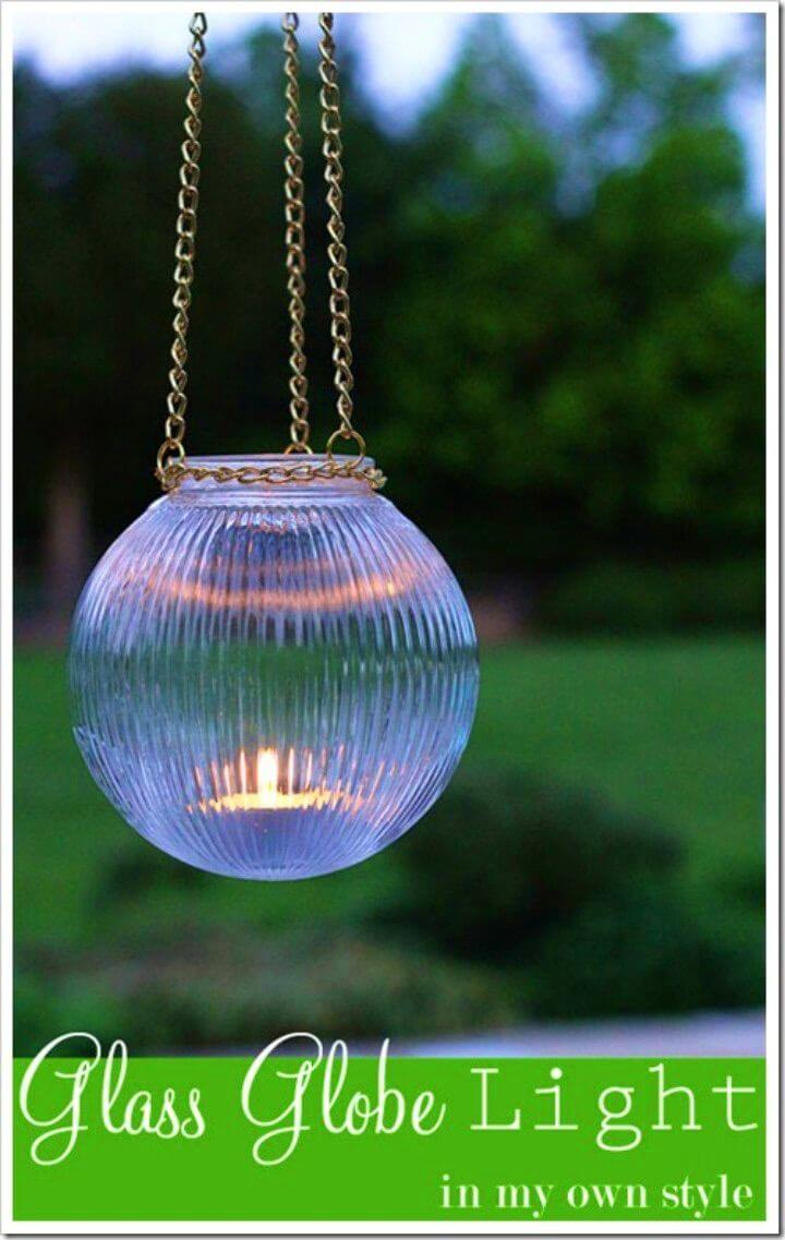 DIY Outdoor Glass Hanging Lights