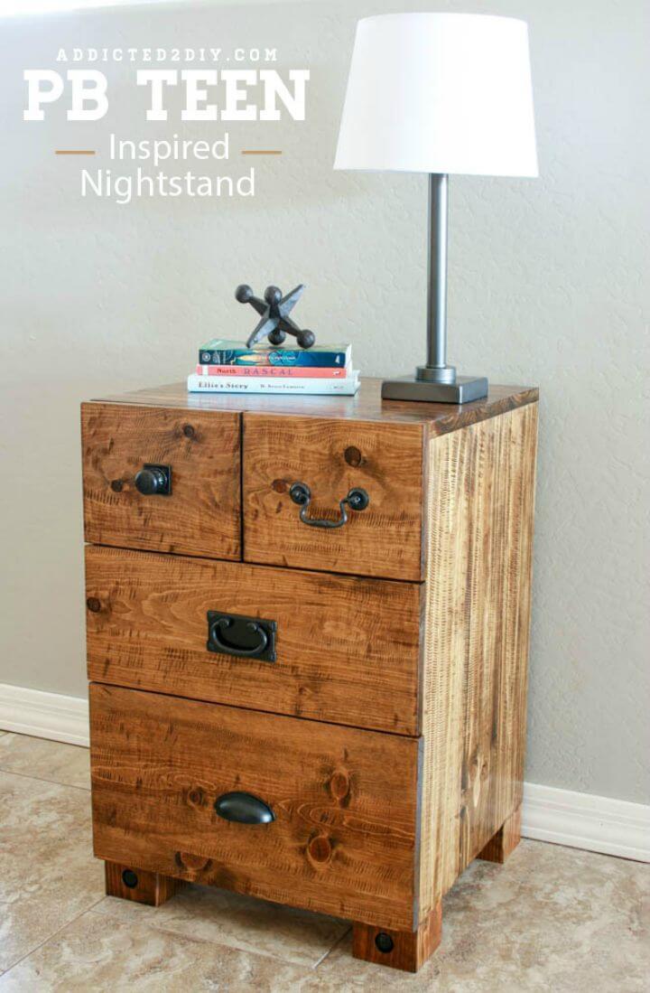 DIY PB Teen inspired Nighstand